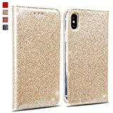 OKZone Coque iPhone XS Max, Luxe Bling en Cuir PU Housse à Rabat Portefeuille Coque...