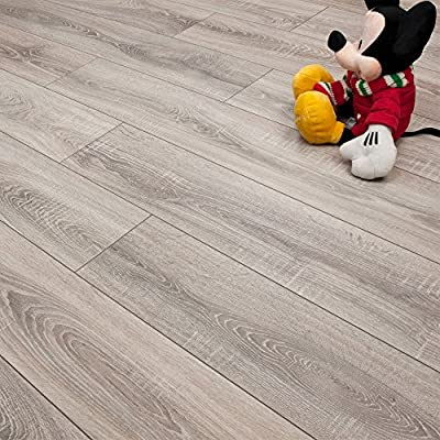 Sydney 7mm Laminate Flooring V-Groove AC3 2.48m2 per Pack - cheap UK light store.