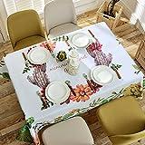 BUUYI Manteles Mesas de comedor Decoración Estilo sencillo jardín 140x180cm Boda hotel restaurante Moderno sencillo