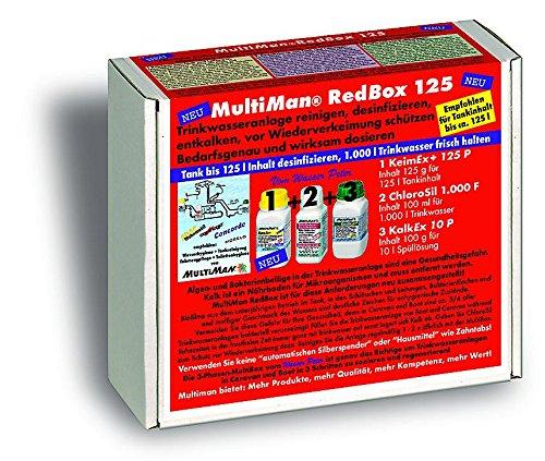 MultiMan RedBox zur jährlichen Reinigung von Trinkwasseranlagen (Reinigung, Desinfektion und Entkalkung), Tankgröße:Tanks ab 10 -125 l