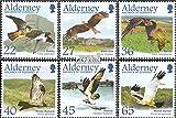 Prophila Collection GB - Alderney 188-193 (kompl.Ausg.) 2002 Zugvögel: Greifvögel (Briefmarken für Sammler) Vögel