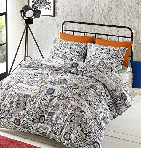 bedding-doodle-dream-aztec-style-sketch-dog-black-white-double-duvet-cover