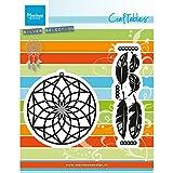 Marianne Design craftables Plantillas de Corte y Embossing,atrapasueños, para proyectos de Manualidades de Papel, Metal, Gris, 17.4x13.9x0.2 cm