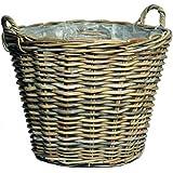 Kunert-Keramik Kosz wiklinowy, bardzo stabilny, do sadzenia roślin, naturalny, 39 cm