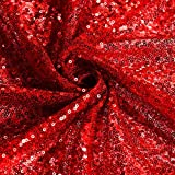 Walmeck Sequin Backdrop Photography Background for Table Runner Window Curtain DIY Cloth Party Christmas 4.2 6.5Ft