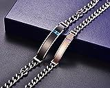 NEHZUS Herren- und Damen-Edelstahl-Armbänder für Paare Gratis-Gravur