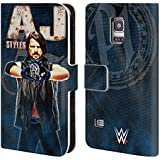 Official WWE AJ Styles Superstars Leather Book Wallet Case Cover For Samsung Galaxy S5 mini