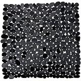WENKO 20275100 Duscheinlage Paradise Black - Rutschstopp, Saugnäpfe, Kunststoff, Schwarz