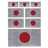 Drapeau du Japon Racing Tuning Autocollant Dimensions 13,5 x 10 cm