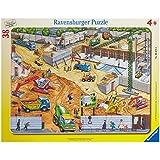 Ravensburger 06678 - An der Baustelle, 38 Teile Rahmenpuzzle