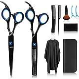 Hårsax, saxuppsättning, premium vassa frisörsaxar, frisörsax av rostfritt stål för utspädning och strukturering, modellering