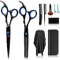 Haarschere, Scheren-Sets, Premium Scharfe Friseurscheren, Friseurscheren aus Edelstahl zum Ausdünnen und Strukturieren…
