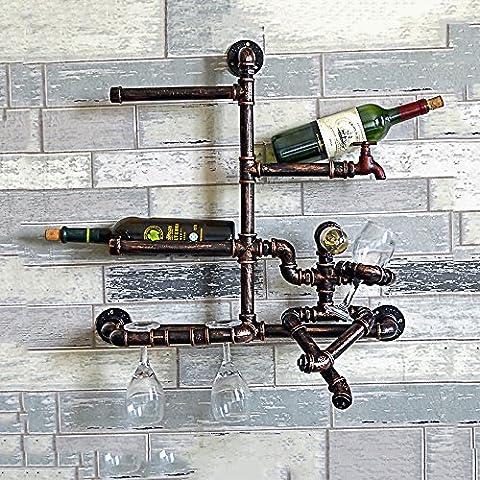 Europäische Retro Industrie Eisen Rohr Wand Lampen kreativer Haus DIY