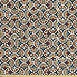 ABAKUHAUS Geometrisch Stoff als Meterware, Halbe Spiralen