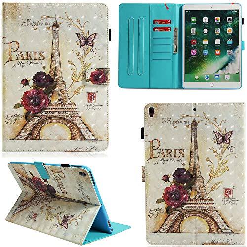 Ooboom iPad Mini1/2/3/4 Hülle 3D Flip PU Leder Schutzhülle Stand Tasche Brieftasche Wallet Case Smart Cover für iPad Mini1/2/3/4 - Paris Eiffelturm (Ipad Mini 3 Cover Paris)