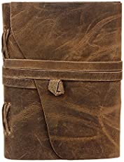 Rustic Town Leather Handmade Journal to Write in Notebook Refillable Diary