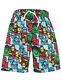 Marvel Avengers - Shorts de Bain - L'incroyable Hulk, Thor, Captain America, Iron Man et Spiderman - Garçon