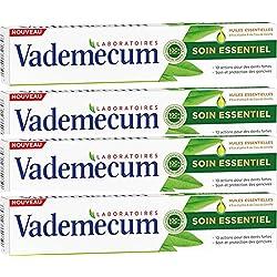 Vademecum Soin Essentiel Dentifrice Huiles Essentielles d'Eucalyptus/Clou de Girofle Tube 75 ml - Lot de 4