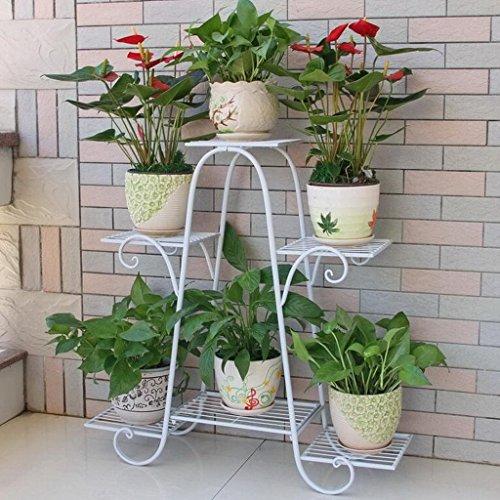 Ckh profumato multi-piano al coperto balcone rack in ferro battuto in legno massello spazio soggiorno vaso di fiori verde lampone a terra