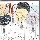 Belly Button Designs Paloma bezaubernde Glückwunschkarte zum runden 90. Geburtstag mit Prägung, Folie und Kristallen BB416