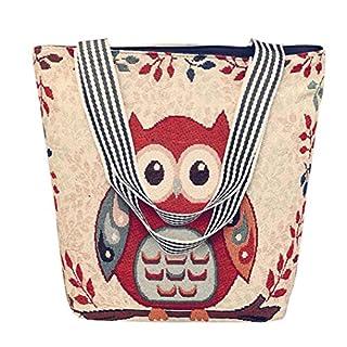 Handbag Shoulder Bag,Amlaiworld Women's Canvas Cartoon Handbag Shoulder Messenger Bag Ladies Satchel Tote Bags (1PC, A)