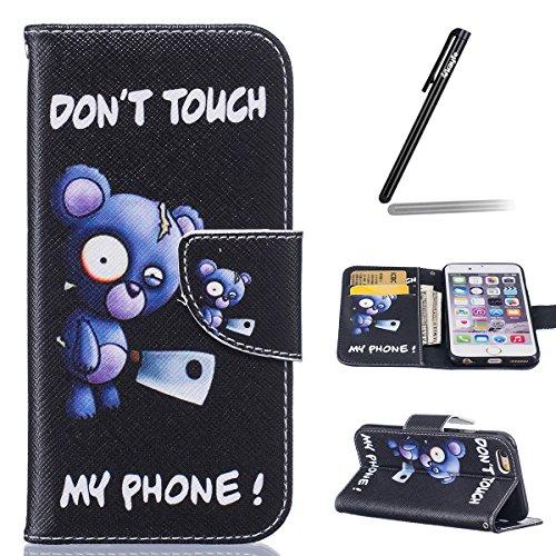 custodia-per-iphone-6-6s-47-ukayfe-modello-bumper-slim-folio-protectiva-custodia-portafoglio-wallet-