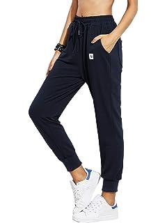 DIDK Femme Pantalon Survêtement Pantalons avec Applique Grand Taille Avoir  Poches Taille Haute pour Sport 1b537d44642