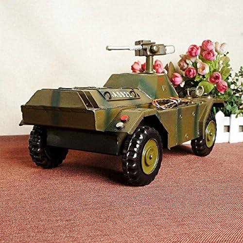 WERTY MEI Modèle de voiture de jouet Armored voiture modèle ornement Armée cadeau Army Model amant cadeau pour les enfants (couleur: vert, taille: 38  20  20 cm, emballage 1) | De Faire Le Meilleur Emploi De Matériaux Et Spécial Offre