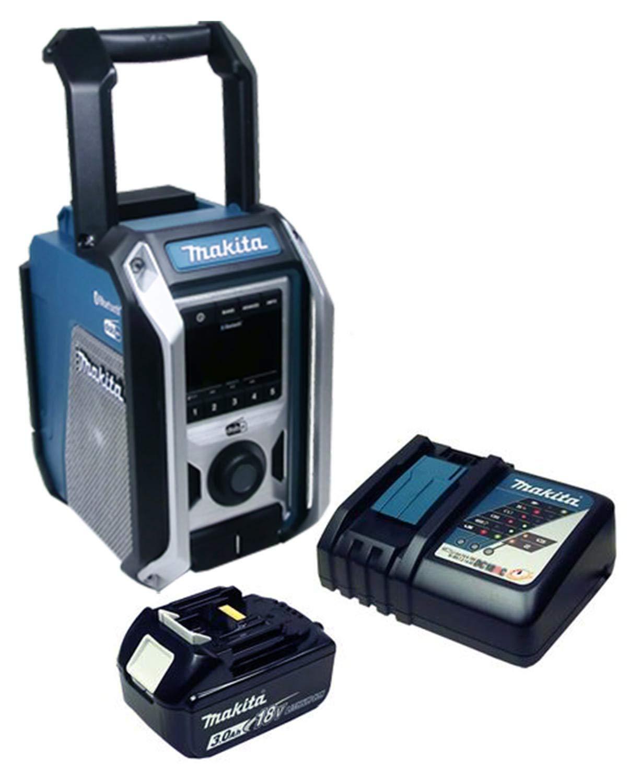 Makita DMR 115 DAB+ Baustellenradio, Bluetooth, mit Akku 3,0 Ah & Ladegerät