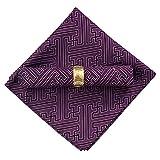 Tnkinuyi 48 x 48 cm / 19 x 19 Zoll 12 Stück Stoff servietten für Bankette, Hochzeit und Andere Veranstaltungen 7 Farben (Violett)