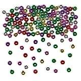 Baker Ross Mini-Perlen in Metallic-Farben für Kinder Zum kreativen Gestalten von Armbändern und Schmuck (450 Stück)