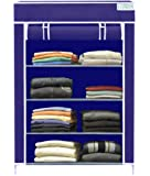 Keekos Collapsible Wardrobe Organizer, Storage Rack for Kids and Women, Clothes Cabinet, Bedroom Organiser with 4…