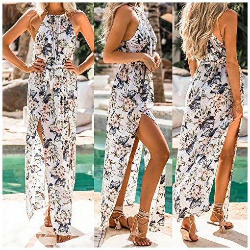 Damen-Kleider-BBring-Frauen-Elegant-Sommer-Blumendruck-Boho-Lange-Maxi-Abend-Party-Strandkleid-Sommerkleid