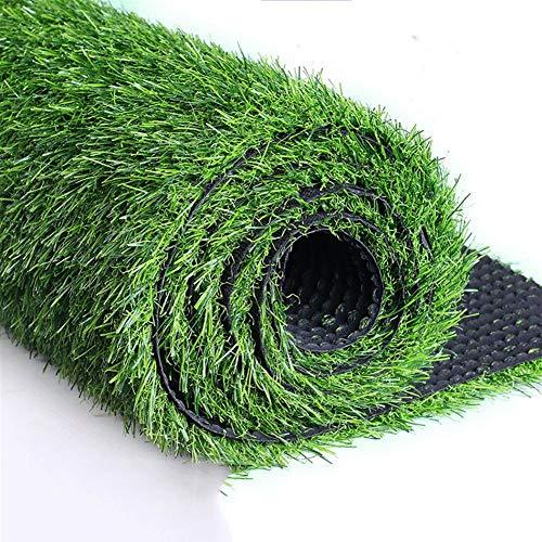 Hogar & Jardín Altura de la pila de 30 mm de césped artificial sintético de primera calidad, esterilla para mascotas de jardín, con respaldo de césped y orificios de drenaje para la decoración de exte