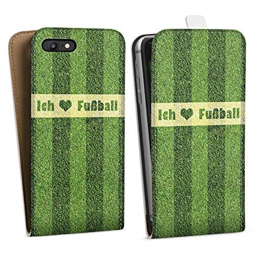 Apple iPhone X Silikon Hülle Case Schutzhülle Ich liebe Fußball Rasen Sport Downflip Tasche weiß