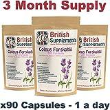 Coleus Forskohlii (Forskolin) Strongest Weight Loss Fat Pills Fat Burner Reduce Hunger UK (90)