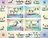 Timbres pour collectionneurs – Perforfated Stamp Sheet avec WWF (World Wildlife Fund)/République du Niger/animaux sauvages/Gazelles