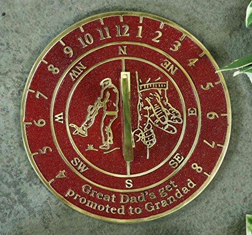 Meridiana in fusione di ottone massiccio inglese, ottimo regalo per papà o nonni, con scritta in lingua inglese