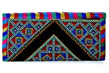 #4: Para Ladies Traditional Hand Clutch Women Classic Embroideries Wallet, Black