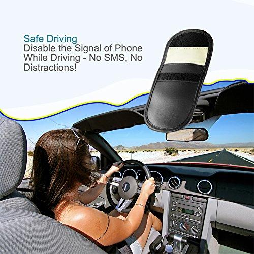 LYSLEDa-2-confezioni-auto-chiave-Signal-Blocker-case-KEYLESS-Fob-Guard-Signal-Blocker-della-borsa-da-dispositivi-serratura-antifurto-per-bloccare-WiFiGSMLTENFCRF-e-cos-via