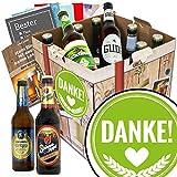 Danke ♥ Bier Paket mit Bieren aus Deutschland | INKL 6 Geschenk Karten für jeden Anlass + Bier-Bewertungsbogen + 3 Urkunden ♥ Biergeschenk Box mit Bieren aus Deutschland ♥ Individuelle Geschenk-Box - Danke ♥
