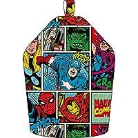 Marvel Comics Thor, Hulk and Spiderman Bean Bag, Fabric, Grey, 52 x 38 x 52 cm