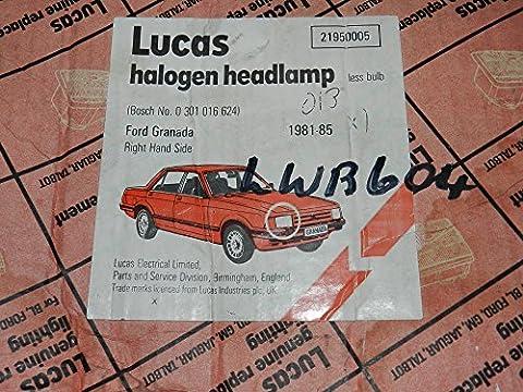 1981-1985 FORD GRANADA LUCAS R/H HEADLIGHT (DRIVERS SIDE UK) LWB604 21950005 (BOSCH 0301016624)