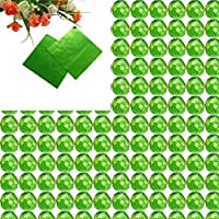 Zerama 100pcs Plaza envolturas de Papel de Aluminio Paquete Colorido de piruletas de Chocolate Dulces de Caramelo