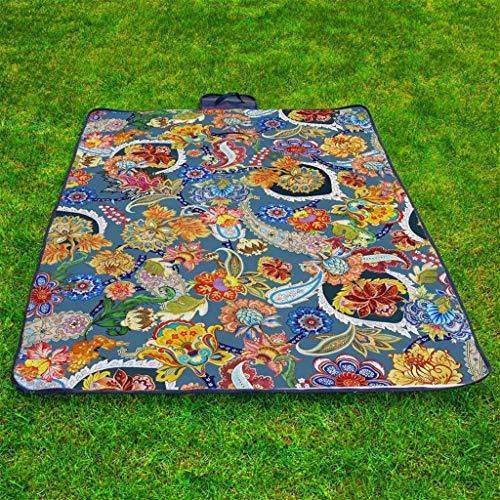 Scrolor wasserdichte Picknickdecke im Freien Camping Teppich quadratische Form Falten Travel Beach Mat Pretty Blumenmuster langlebigen Teppich