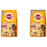 Pedigree Adult Dry Dog Food, (High Protein Variant) Chicken Egg and Rice, 10kg Pack & Pedigree Adult Dry Dog Food, (High Prot