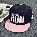FORTAN Fashion Stickerei Snapback Boy HipHop Hat Verstellbare Baseball Cap Unisex schwarz schwarz