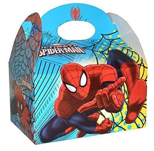 Preisvergleich Produktbild 24 x Marvel Ultimative Spider-Man Kinder Geburtstagsparty Essen Geschenkboxen