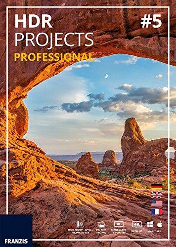 FRANZIS HDR projects 5 professional 5 professional Für bis zu 3 Geräte zeitlich unbegrenzt Fotosoftware für Windows PC & Mac OS X Disc Disc (Bewegen Ein Stück)