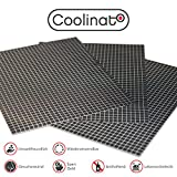 Coolinato 3 Hochwertige Silikon Backmatten (38x30cm) - Rutschfeste Dauerbackfolie für Backofen | Umweltfreundlich und Spülmaschinenfest | Auch als Backunterlage und Teigunterlage verwendbar